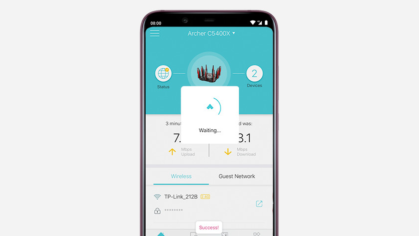 Successfull connecting to internet in TP-Link Tether App