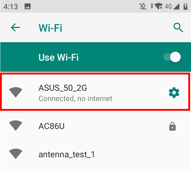 Android Mobile connect to asus router SSID